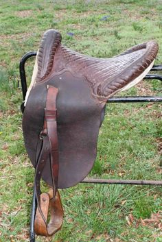 Antique Plantation Saddle 1890-early 1900's - Vintage Military - Kentucky?