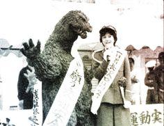 """So Mr. Godzilla, how do you really feel about Mothra?"""