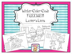 Winter Color Code FREEBIE!