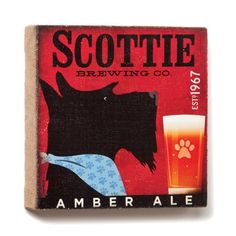 Terrier Breeds, Scottie Dogs, Brewing Co, Westies, Art And Architecture, Burlap Wall, Scottish Terriers, Ale, Poster Prints