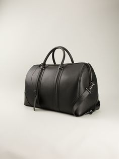 Givenchy - Black Lucrezia Hold All Leather Duffle Bag, Duffel Bag, Designer Luggage, Briefcase For Men, Man Up, Puffy Eyes, Travel Bags, Givenchy, Creations