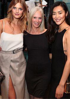 Current and former Estee Lauder faces: Constance Jablonski, Karen Graham, Liu Wen