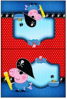 Cartão Agradecimento George Pig Pirata (Peppa Pig):