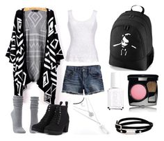 """""""Back to School Backpack Contest #2"""" by topoloveclucija ❤ liked on Polyvore featuring Lucky Brand, Thalia Sodi, Charlotte Russe, Call it SPRING, McQ by Alexander McQueen, Chanel and Essie"""