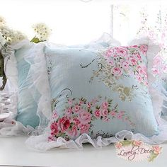 Shabby Chic Ruffle Cushion Cover