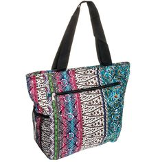 Silverhooks Womens Boho Patchwork Beach Tote Bag -- Details can be found by clicking on the image.