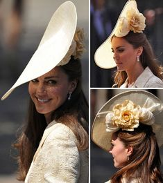 Kate Middleton wears a Launceston Place hat by British milliner Gina Foster