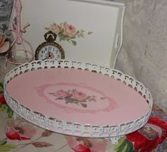 Vanity Dresser Tray ~ maybe this is what I should do with my grandmother's tray...
