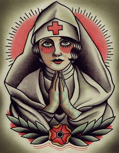 american+traditional+tattoos | ... Wars American Traditional Tattoo Flash Holy nurse traditional tattoo