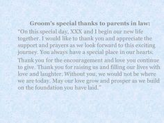 A Message From The Bride And Groom To Their Parents Wedding Speech
