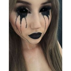 Black Halloween Makeup Ideas To Explore Your Darkest Side The Xerxes ❤ liked on Polyvore featuring beauty products and makeup