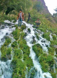 Waterfall in meragram chitral Valley KPK PAKISTAN