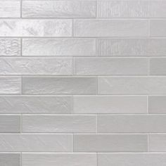 Ivy Hill Tile Palmer Gray 3 in. x 10 in. x Matte Ceramic Subway Wall Tile pieces / sq. / - The Home Depot Subway Backsplash, Grey Subway Tiles, Splashback Tiles, Ceramic Subway Tile, Kitchen Backsplash, Gray Tiles, Craftsman Tile, Walk In Shower Designs, Subtle Textures