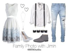 """""""Family Photo with Jimin"""" by btsoutfits ❤ liked on Polyvore featuring Banana Republic, Balmain, Chicwish, Tod's, Maison Margiela, Lipsy, Topman and GUESS"""