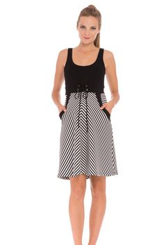 Lily Stripes Maternity Dress in Black & White Stripes. Please use coupon code NewProducts to receive 15% off these items. To receive the discount, please place your order by midnight Monday, March 14, 2016