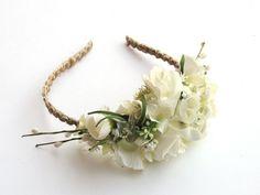 Romantyczna ślubna opaska do włosów - ArtMoss - Akcesoria