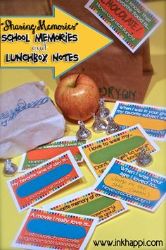 Printable School Memories and Lunchbox Notes from @todayscreative