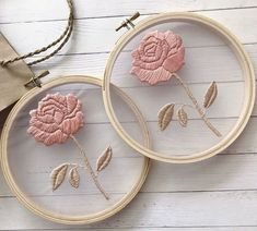 ❁ Sunday ❁ I hope you have had a fabulous day xx Hand Embroidery Videos, Embroidery Flowers Pattern, Simple Embroidery, Hand Embroidery Stitches, Embroidery Hoop Art, Hand Embroidery Designs, Ribbon Embroidery, Cross Stitch Embroidery, Beginning Embroidery