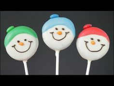 ▶ Snowman Oreo Cookie Pops!! - YouTube