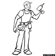 handyman coloring page free handyman online coloring