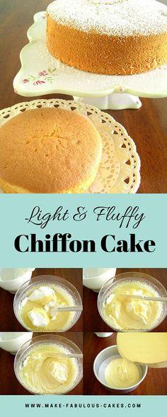 Light and fluffy chiffon cake by Make Fabulous Cakes