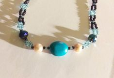 This item is unavailable Crystal Beads, Crystals, Beadwork, My Etsy Shop, Beaded Bracelets, Turquoise, Gemstones, Pearls, Check