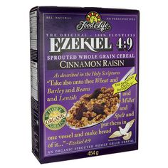 Food For Life Ezekiel 4:9 Sprouted Whole Grain Cereal - Cinnamon Raisin 16 oz Box - Swanson Health Products