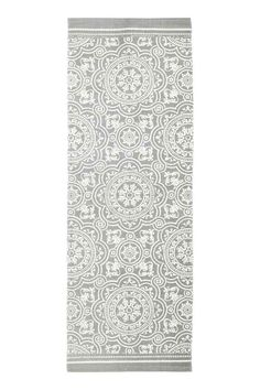 Patterned cotton rug - Grey - Home All | H&M GB 1
