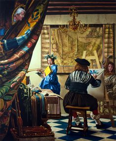 """Roland Heyder - """"Vermeer's paint art"""", 1996"""
