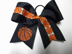 Basketball Bow- Many colors Available