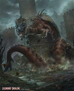 ArtStation - Vyaetra - Legendary Dragons, Raph Herrera Lomotan Monstruo Pelicula, Monstruo De Fantasía, Monstruos Gigantes, Criaturas De Fantasía, Fotos Lobos, Ilustración De Dinosaurios, Dibujos De Godzilla, Armadura De Fantasía, Hombre Araña Comic