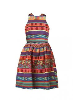 FRONT: ASOS Skater dress in Mexican Print