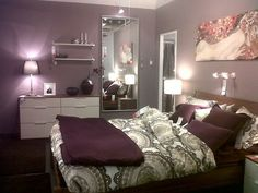 Bedroom Decorating Ideas Purple purple and white, silver bedroom decor | room-house | pinterest