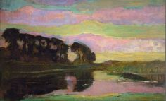 Piet Mondrian  Landscape w/ Row of Trees at Left 1907