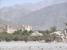 Shapur II - Picture of the Nakhal Fort and the Hajar mountains