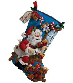 Bucilla - Felt Applique Stocking. Festive designs; quality materials and generous embellishments continue to make Bucilla felt seasonal decorations a favorite stitchery tradition. This kit contains st
