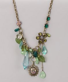 Take a look at this Teal & Green Necklace by Sophisticated Baubles: Jewelry on #zulily today!