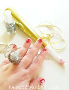 Make a Disco Ball Drop Ring for New Year's Eve via Nest of Posies = so fun!