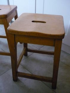vintage school stools Quite like the idea of old science lab stools for the…