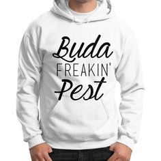 Gildan hoodie is made of Cotton, Polyester blended fleece fabric. Set in sleeves. athletic rib knit cuffs with spandex. Fleece Fabric, Graphic Sweatshirt, T Shirt, Hoodies, Sweatshirts, Budapest, Rib Knit, Sleeves, Sweaters
