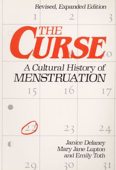 I feel so stupid that I had never heard of this, especially when I wrote my historiography on women's reproductive health -- The Curse: A CULTURAL HISTORY OF MENSTRUATION
