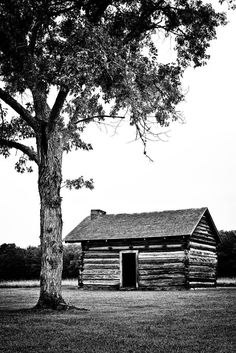 Black and white photograph of the Brotherton cabin at Chickamauga Battlefield site in Georgia, near Chattanooga, Tennessee. Archival Pigments Prints on Fine Art Paper (Standard): - Printed on matte finish heavy-weight, bright, white cotton fine art paper - Rated for permanence up to 400 years - Includes white border for easier framing - Signed in the white space below the bottom right corner of the print - Comes to you carefully packaged, without frame or top mat - Ships in 3-5 business days…