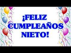 Feliz Cumpleaños a mi Nieto - Tarjetas Postales de Cumpleaños a mi Nieto