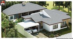 Planta de Casa - 3 Quartos - 138.06m² - Monte Sua Casa