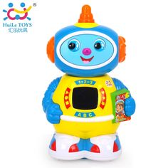 18.78$  Watch here - HUILE TOYS Robot Toy 360 Rotating Robot Musical Walk Lighten Electronic Toy Robot Christmas Birthday Gifts Toy for Children Boys  #buychinaproducts