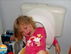 This pic gives new meaning to being stuck in the loo...