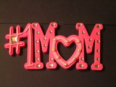 NUMBER ONE MOM wall sign with photo insert - pinned by pin4etsy.com