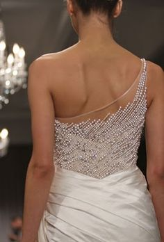 wedding dress pearls....