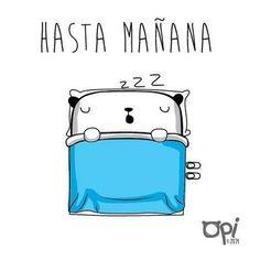 Hasta mañana #opi #cute #kawaii #illustration #ilustración #dibujo #dibujo
