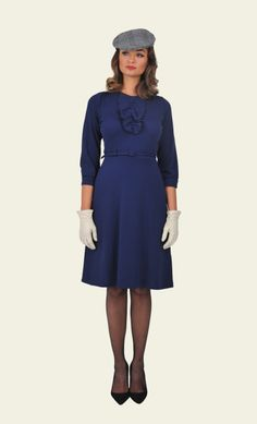 King Louie - Vogue Ruffle Dress Milano Crepe